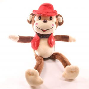 Red Monkey Soft Toy