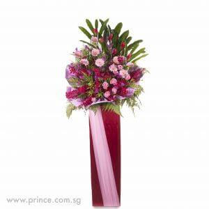 Congratulatory Flower Stand - Lively Blossoms